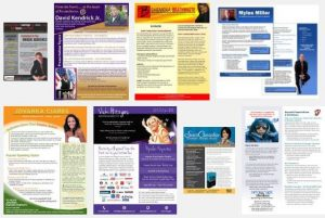 Speaker one sheet flyers & one pagers