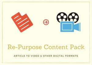 article to video, article to pdf, re-purpose article, article to visual format